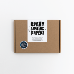 Cyanotype Paper Kit reading really amazing paper on the front