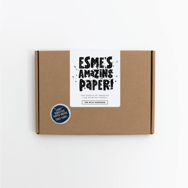 Cyanotype paper kit with personalised name